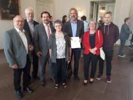 Verleihung des Bundesverdienstkreuz an Werner Friedel.