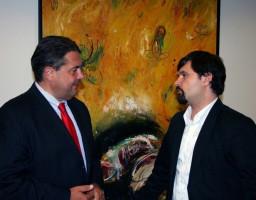 Treffen mit Sigmar Gabriel (zu dem Zeitpunkt Parteivorsitzender)