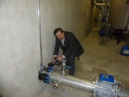 Inbetriebnahme der neuen Trinkwasserversorgung