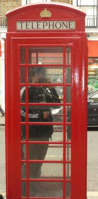 die berühmten englischen Telefonhäuschen